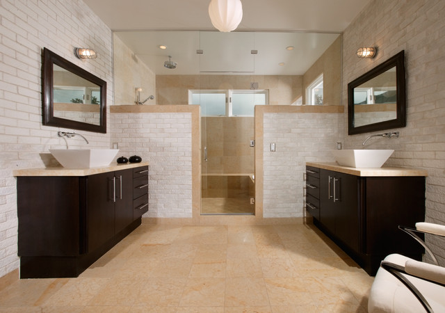 His And Hers Bath Contemporary Bathroom