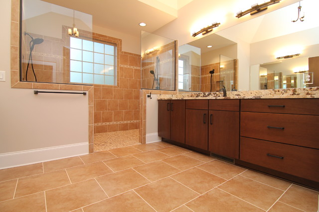 His and hers master bath traditional bathroom for His and hers bathroom
