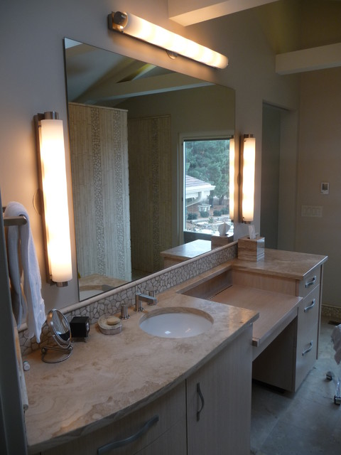 His hers master suites modern bathroom omaha by for Master bathroom his and hers