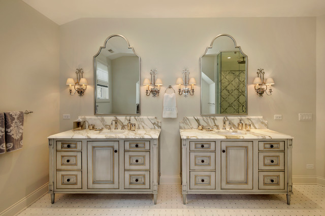 His And Hers Vanities Traditional Bathroom Chicago