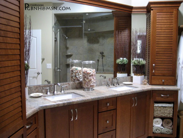 Tropical Bathroom Vanity Lights : His and Hers Vanity - Tropical - Bathroom - Orlando - by Kitchens & More LLC
