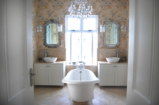 His and hers vanity traditional bathroom by for His and hers bathroom