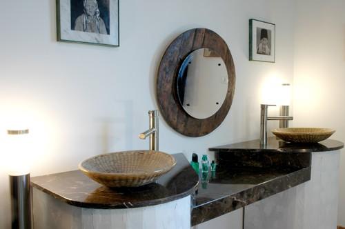 His and Hers W/ Custom Weaved Basket Sinks