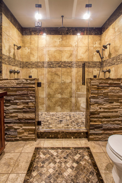 hisher master shower bathroom bathroom - Master Showers