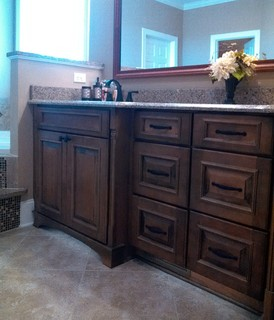 "His"" Vanity and Recessed Drawers - Traditional - Bathroom ..."