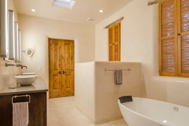 Historic adobe remodel southwestern bathroom for Bath remodel albuquerque