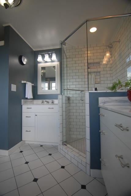 historic home award winning master bathroom renovation. Black Bedroom Furniture Sets. Home Design Ideas