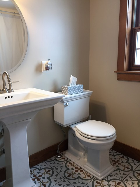 Inspiration for a craftsman bathroom remodel in Other