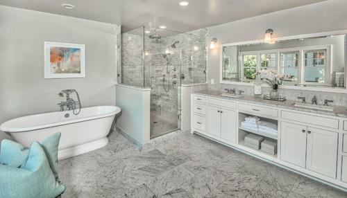 Traditional Master Bathroom Renovation in Portland Oregon