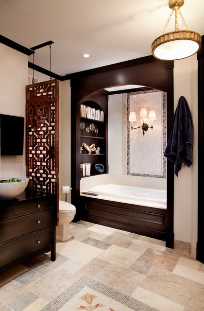 Historic schoolhouse loft traditional bathroom for Bathroom design chicago