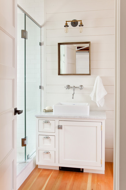 Historic Shotgun Style Renovation transitional-bathroom