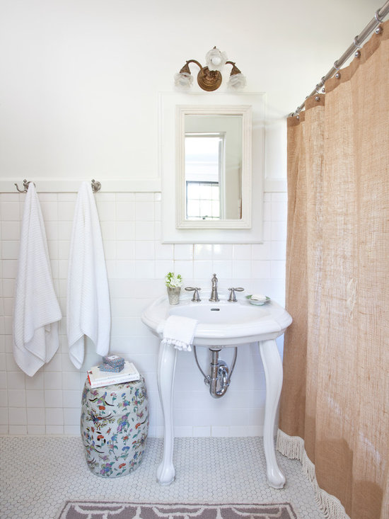 Burlap Shower Curtain Home Design Ideas Pictures Remodel