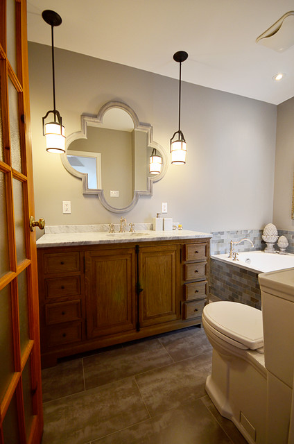 Historic townhouse kitchen and bathroom transformation traditional-bathroom