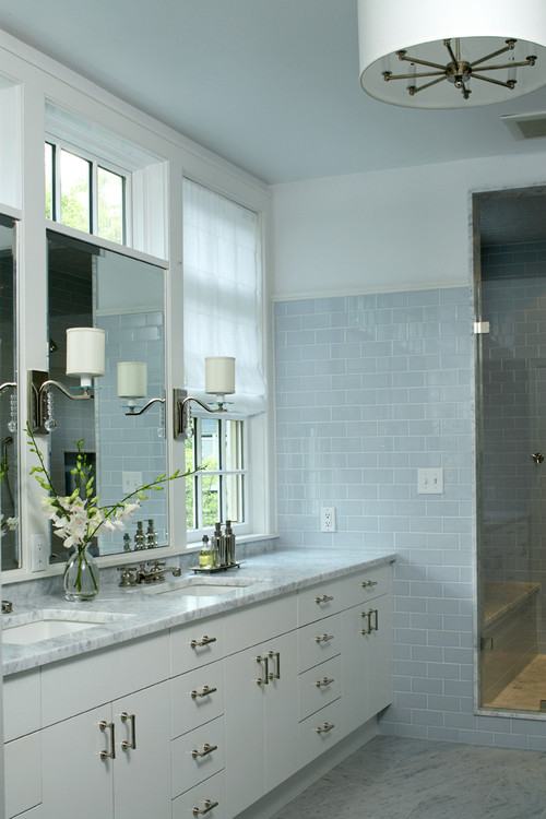 contemporary bathroom Color of the Month: Decorating with Light Blue