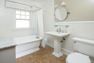 Tile Wainscoting Bathroom wood wainscoting around tub