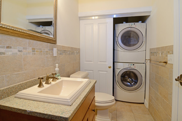 Hoboken Rowhouse with Floor to Ceiling Glass Extension traditional-bathroom