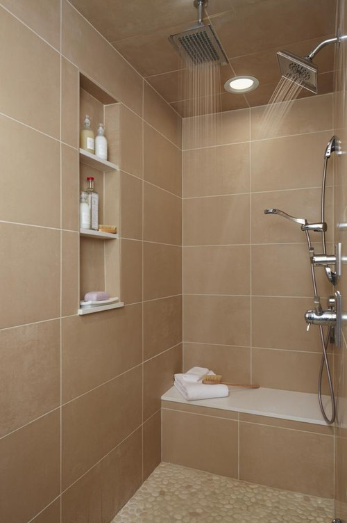 Tub shower wall tile decision for Indian toilet design