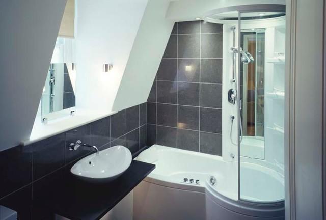 Holland Park modern-bathroom