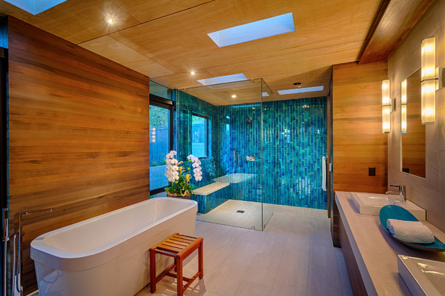 Nothing But Blue Skies Master Bath Before And After: Hollis Fulton Design Build, Si Teller Architect And Design