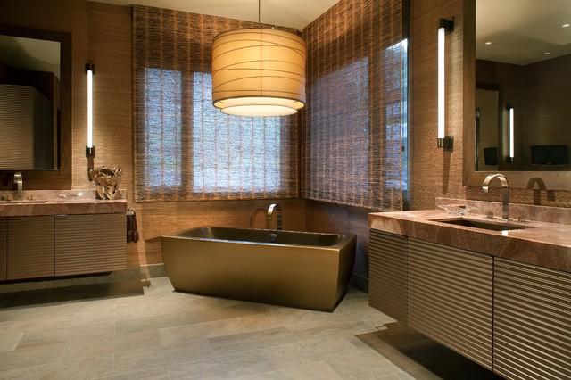 Hollywood glamour meets modern modern bathroom san for Hollywood bathroom design