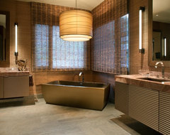 Hollywood Glamour Meets Modern modern-bathroom
