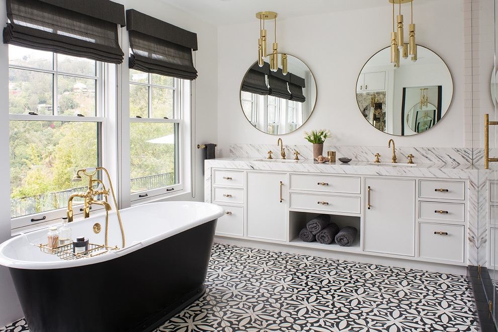 Hollywood Hills Hollywood Glam Transitional Bathroom Los Angeles By Deirdre Doherty Interiors,Kitchen Floor Plan Design Ideas