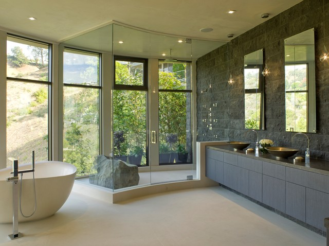 Stone Shower Stall Floor | Houzz