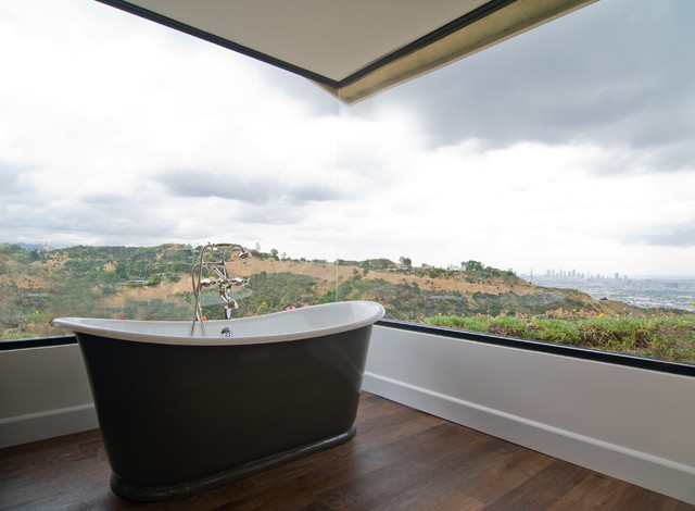 Hollywood Hills Transitional traditional-bathroom