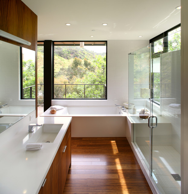 Houzz Com Bathroom: Hollywood Hybrid