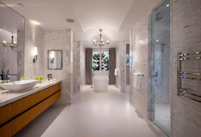 Hollywood Regency Montecito Midcentury Bathroom Other Metro By Maienza Wilson