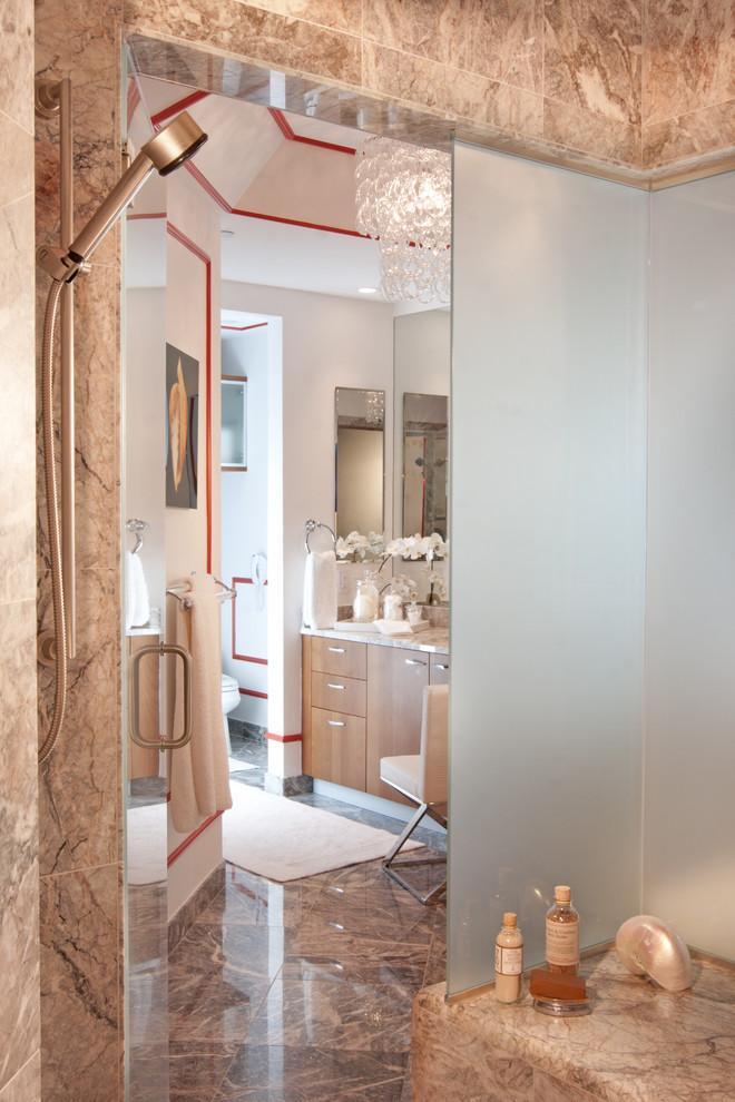 Eclectic bathroom photo in Miami