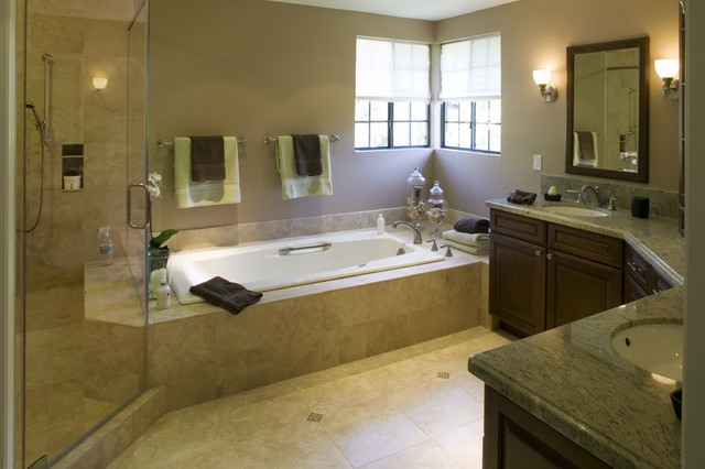 Home in Novato traditional-bathroom