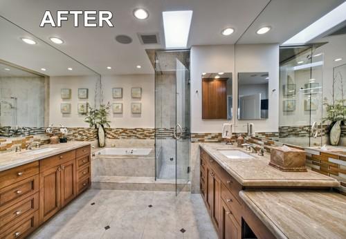 Gorgeous master bathroom remodel los angeles for Bath remodel los angeles