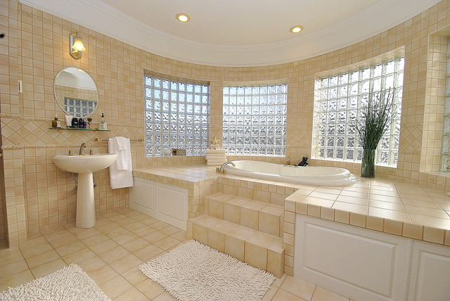 Home Staging by Revealing Assets in St. Albert, Alberta, Canada mediterranean-bathroom