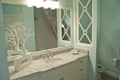 half walls between rooms really love the design in the half wall between the vanity and