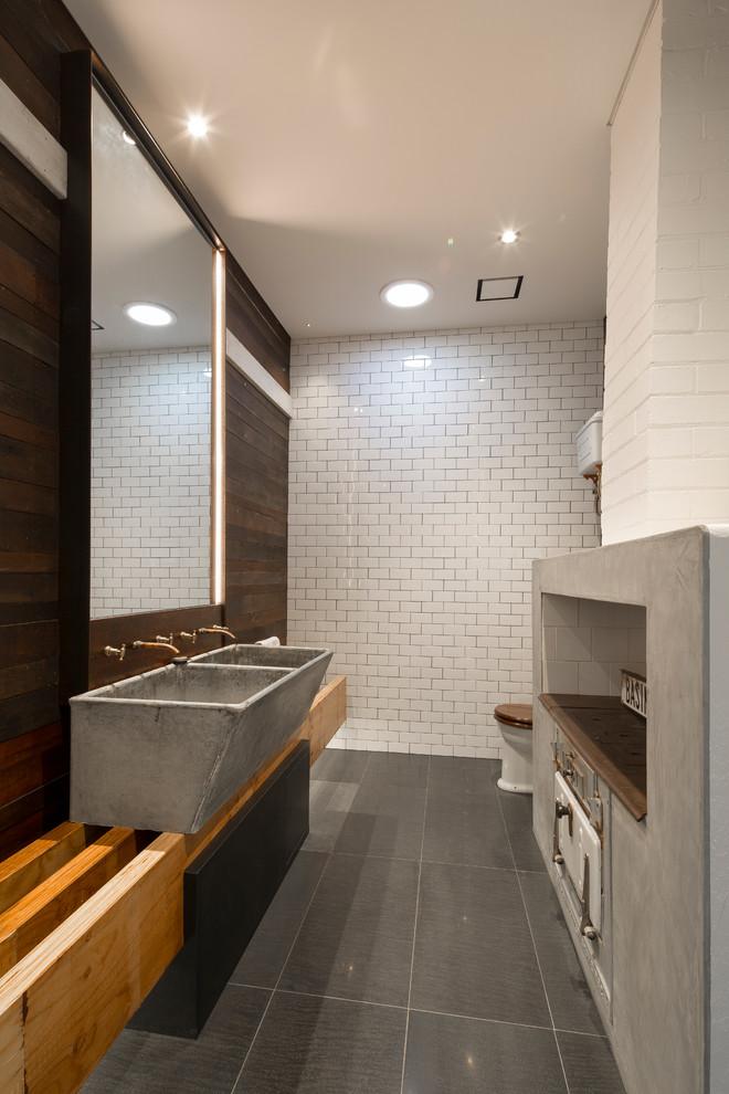 Homestead old meets new bathroom - Farmhouse - Bathroom ...