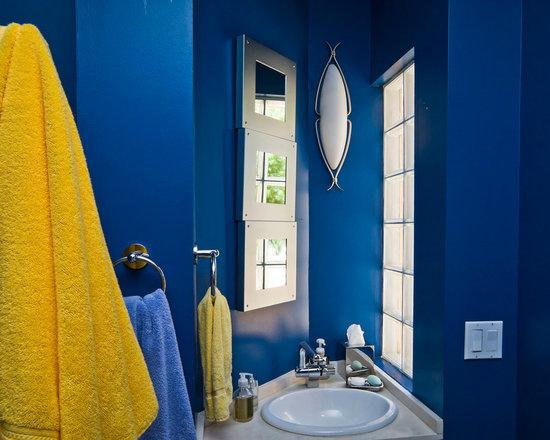 Royal blue bathroom design ideas pictures remodel decor for Royal blue bathroom ideas
