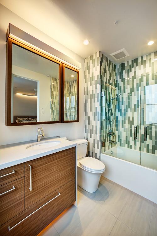 πλακάκια, μπάνιο, καθρέφτης μπάνιου, διακόσμηση, ιδέες