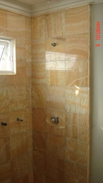 Honey Onyx Traditional Bathroom Orange County