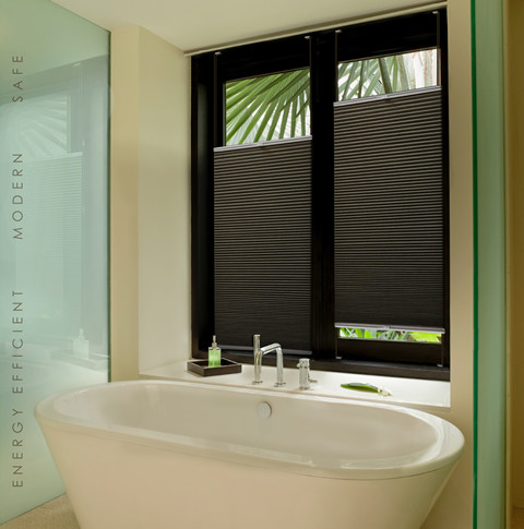 Designer Bathroom Blinds honeycomb blinds - modern - bathroom - brisbane -veneta blinds