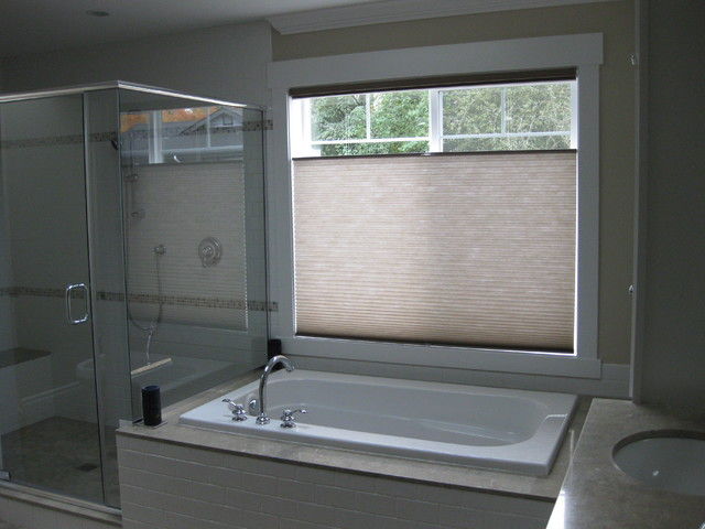 Honeycomb Shades Traditional Bathroom Seattle By
