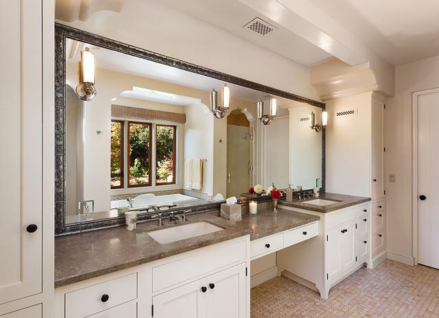 Bathroom Ideas Ranch Home: Hope Ranch Spanish Style Custom Home Master Bath