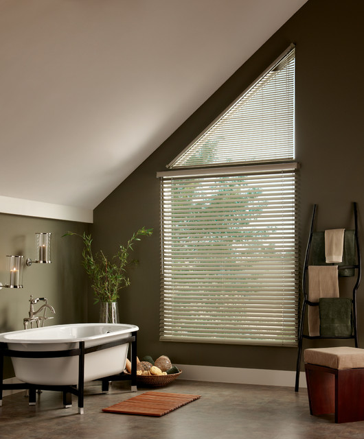 Horizontal Blinds For Specialty Windows Traditional