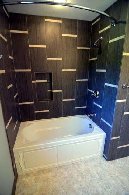 Horizontal Stripes Bathroom Modern Bathroom