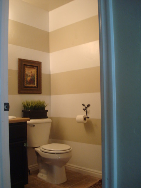 Horizontal stripes 2 color bathroom paint ideas