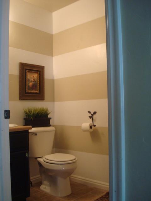 Horizontal Stripes Traditional Bathroom
