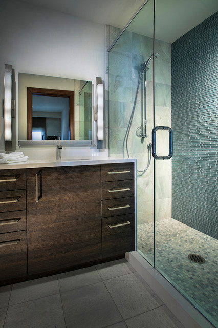 Horse ranch contemporary bathroom denver by for Modern ranch bathroom