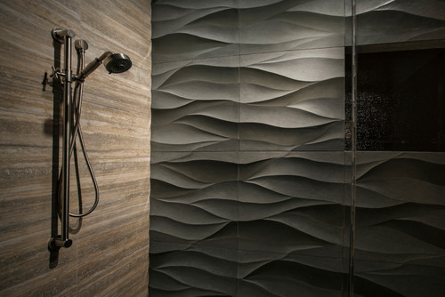 What is dark gray tile with the wave relief mfr website
