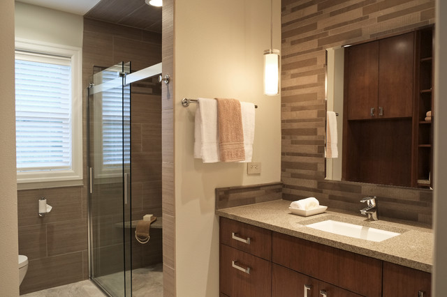 Hotel Chic Master Bath Contemporary Bathroom Seattle