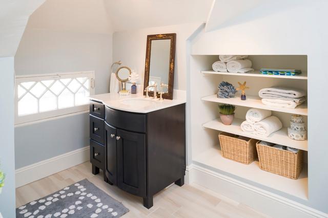 Boost Your Bathroom Storage With A Niche, Recessed Shelf In Bathroom Wall